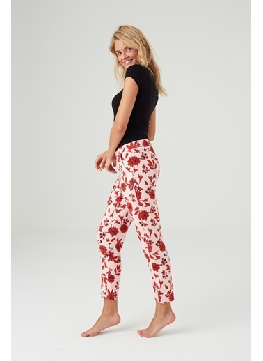 Mod Collection Kadın Puanlı Pijama Altı Kırmızı